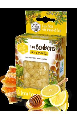 Bonbons citron fourrés miel...