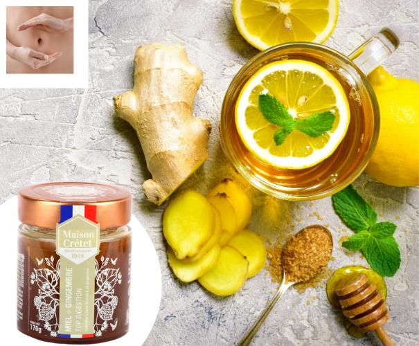 gingembre et miel digestion