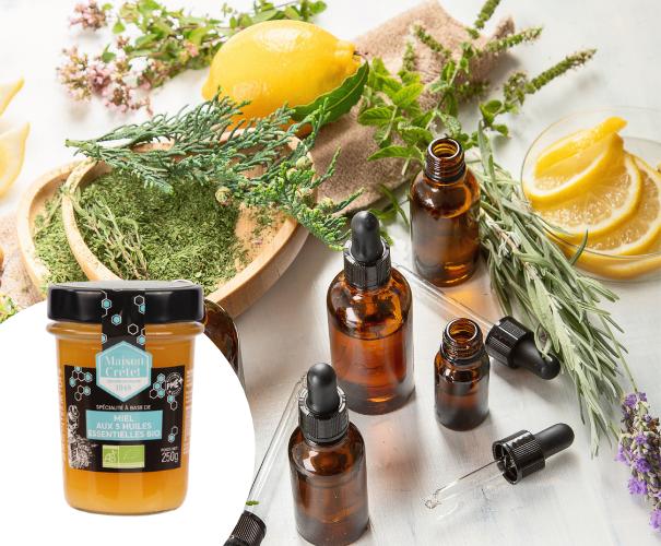 miel 5 huiles essentielles bio
